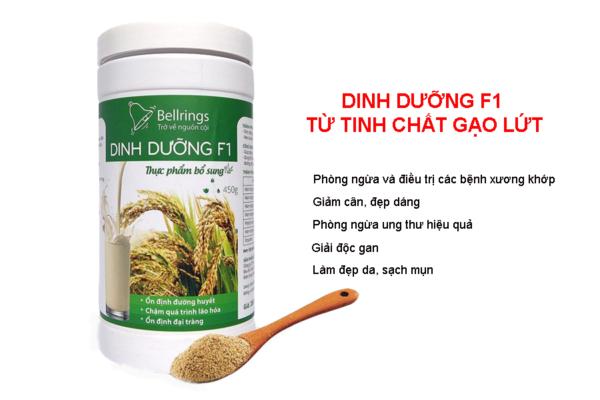 Combo muối ngâm chân + trà dưỡng tâm + dinh dưỡng F1