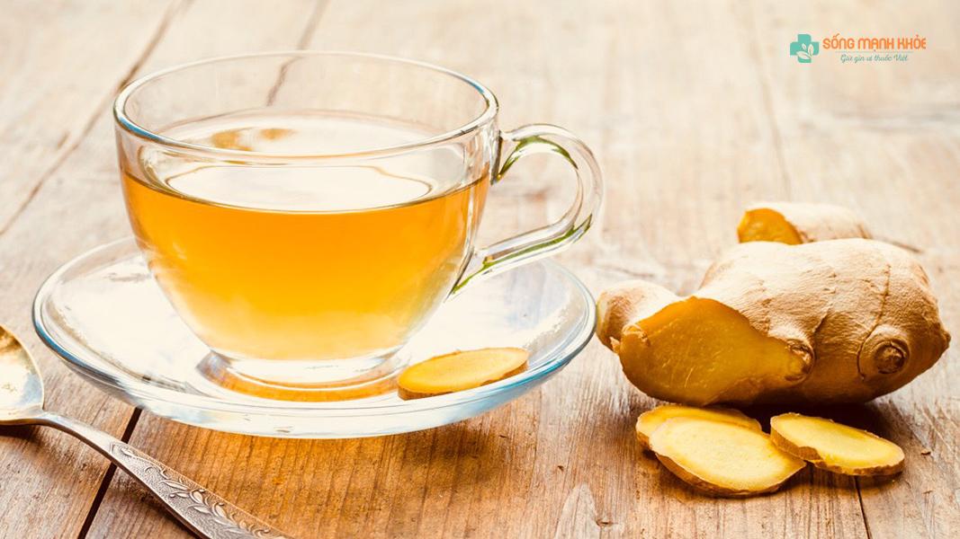 Trà gừng là loại trà an thần ngủ ngon dễ chế biến